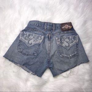 Lucky Brand shorts sz2/26 distressed denim cutoffs